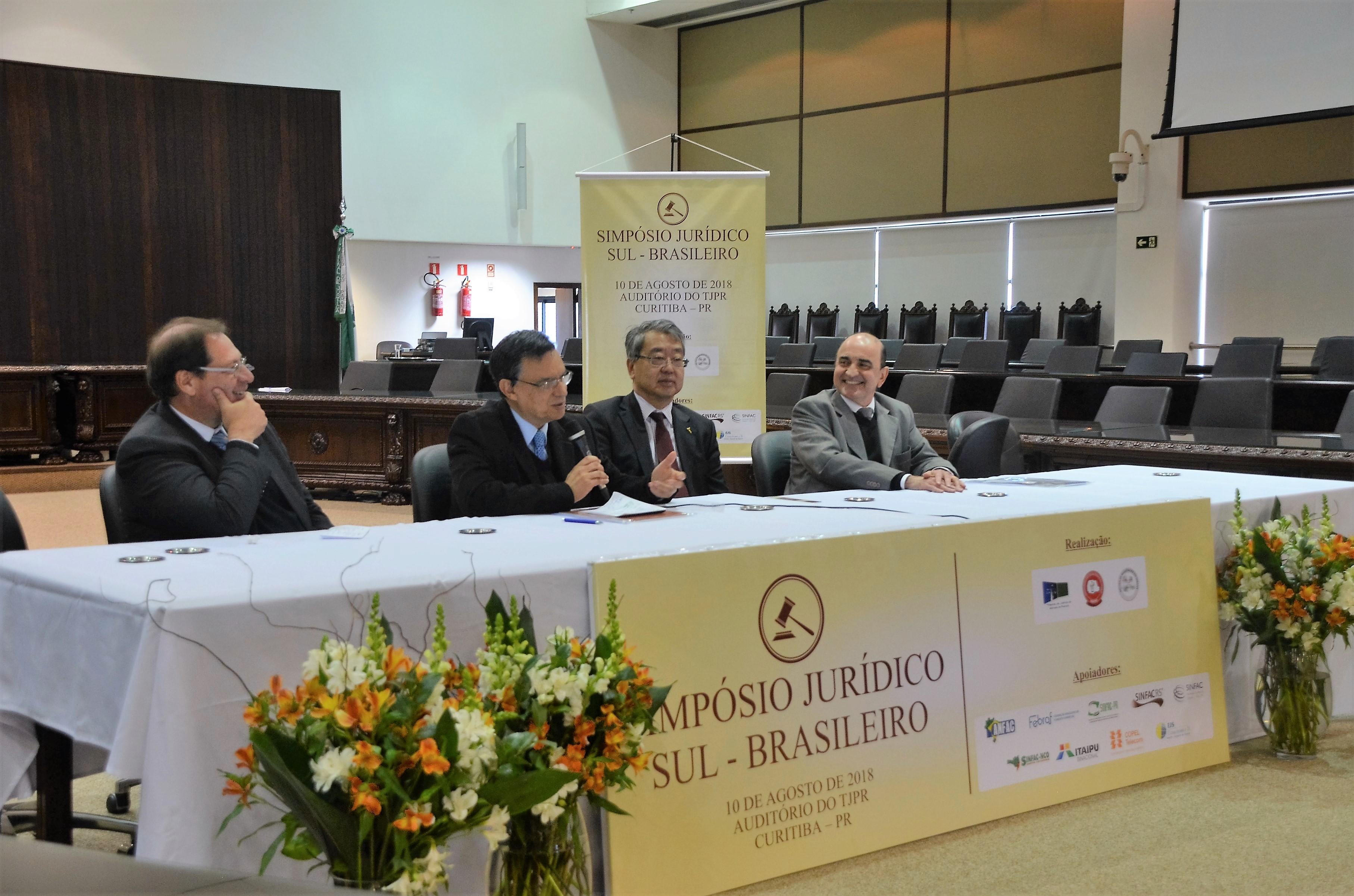 Simpósio realizado no TJPR apresenta a visão do Poder Judiciário sobre a atividade de fomento comercial