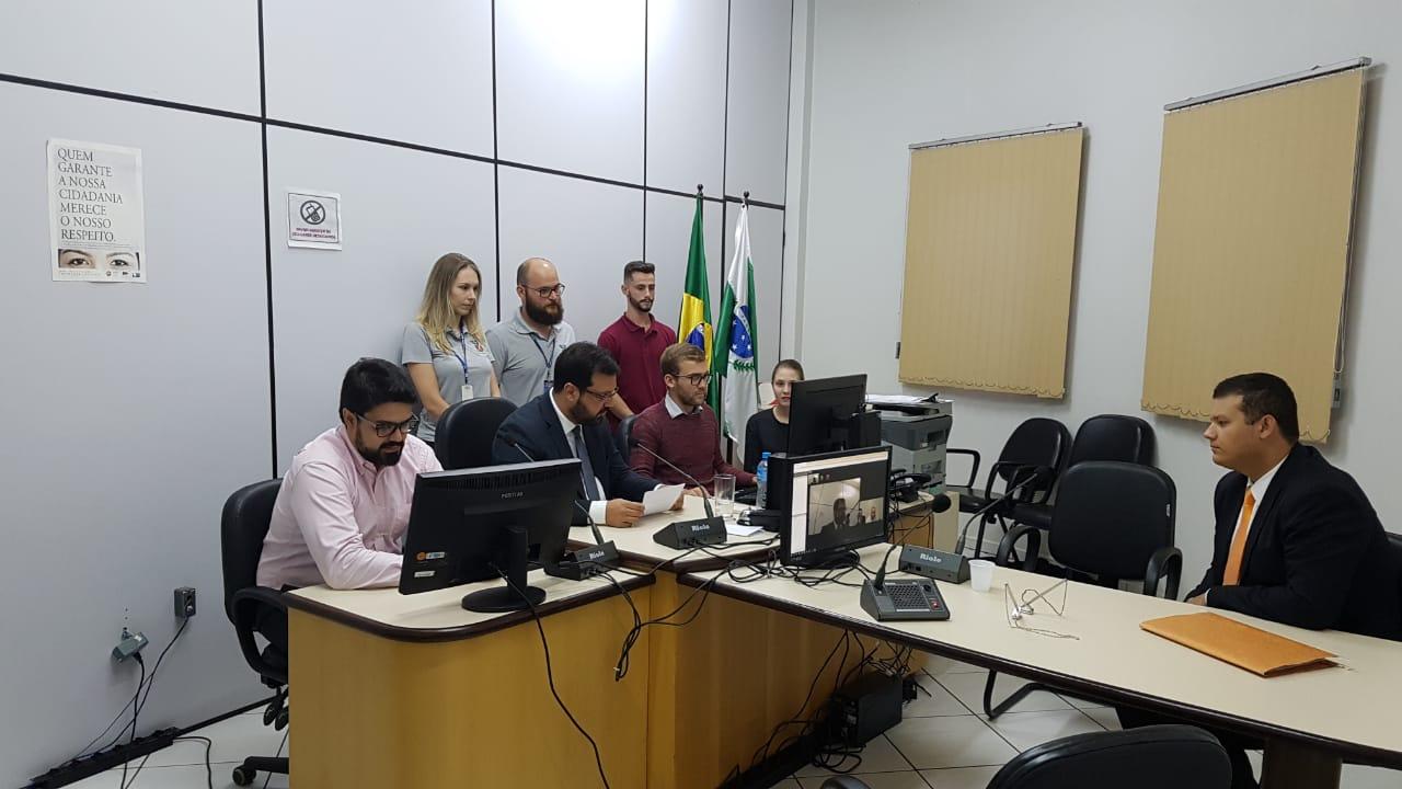 Comarca de Marmeleiro realiza primeira audiência de custódia por videoconferência