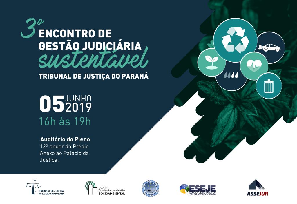 Estão abertas as inscrições para o 3º Encontro de Gestão Judiciária Sustentável