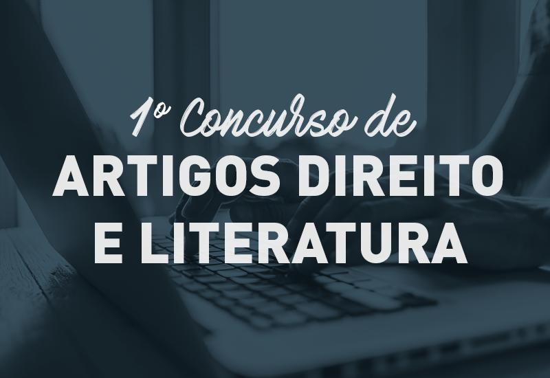 I Concurso de artigos Direito e Literatura está com as inscrições abertas