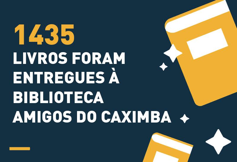 Ouvidoria-Geral da Justiça entrega 1435 livros à Biblioteca Amigos do Caximba