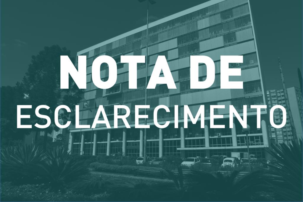 Nota de Esclarecimento sobre a aplicação da Recomendação nº 62/2020-CNJ no âmbito do sistema carcerário do Estado do Paraná