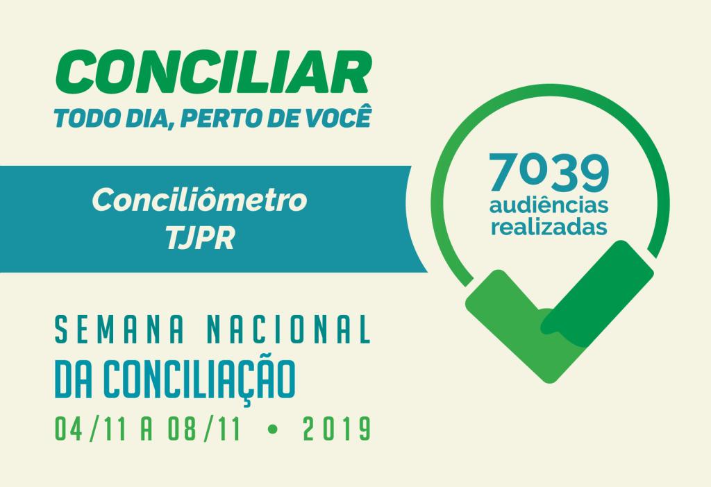 Semana Nacional da Conciliação encerra suas atividades com milhares de paranaenses atendidos