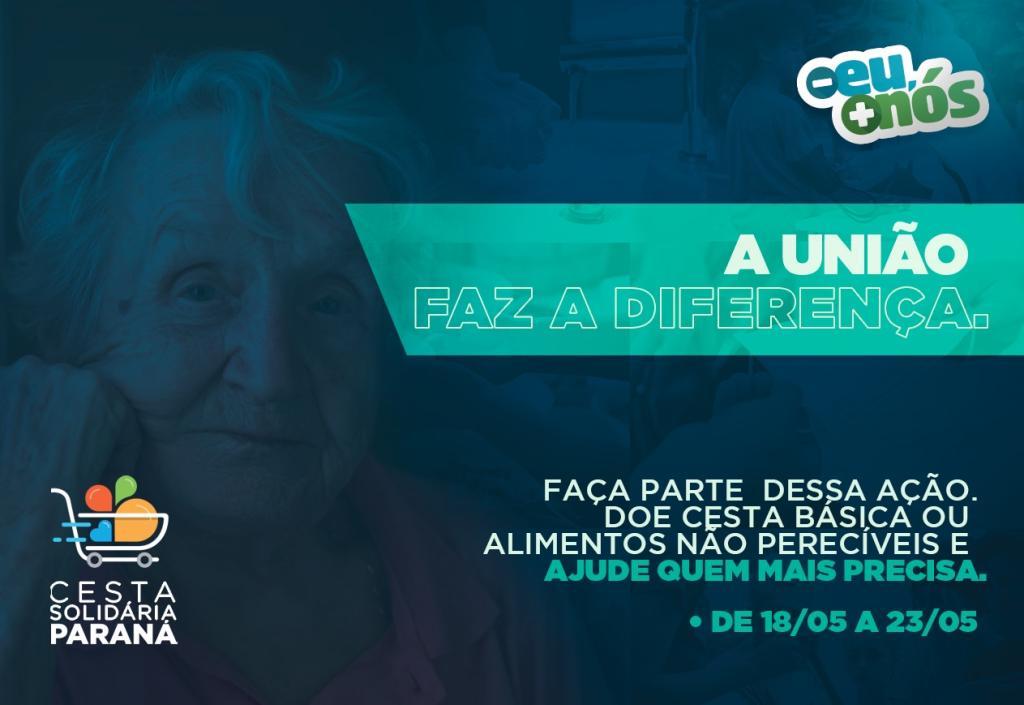 """TJPR apoia a campanha """"Cesta Solidária Paraná"""""""