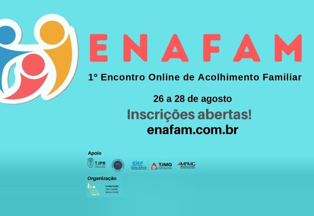 Inscrições abertas para o 1º Encontro Online de Acolhimento Familiar