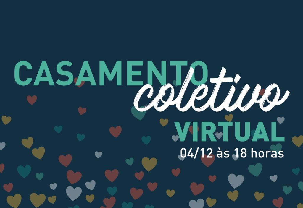 Cerimônia virtual do casamento coletivo será realizada na sexta-feira (4/12)