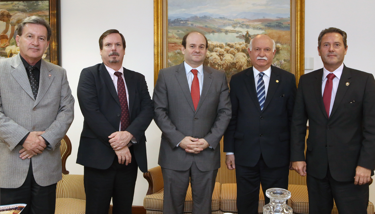 Presidente do TJPR recebe Ministro do TSE